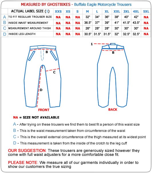 Buffalo Eagle Motorcycle Trousers