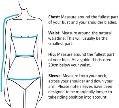 Knox Womens' Upper Body Measuring Guide