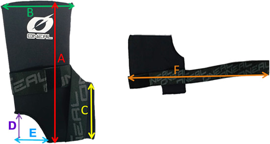 Oneal Ankle Stabilizer Sizing Guide