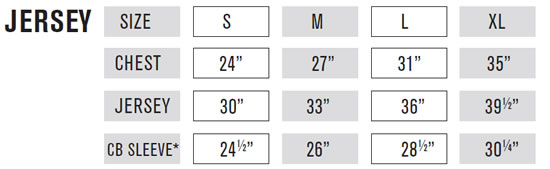 O'Neal Kids' MX Jersey Sizing Guide