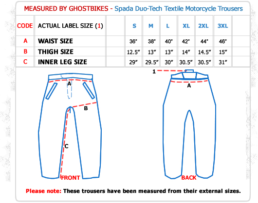 Spada Duo Tech Motorcycle Trousers