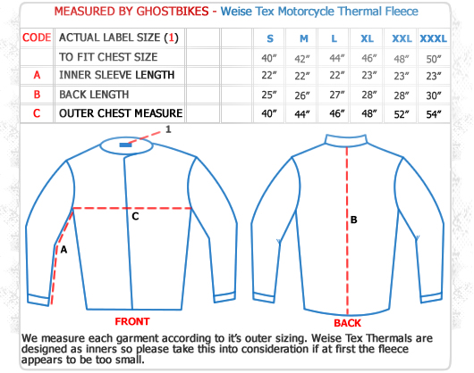 Weise Tex Motorcycle Thermal Fleece