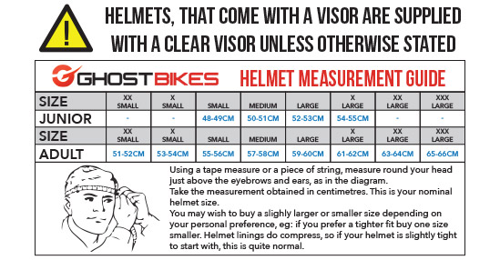 Helmet Size Guide