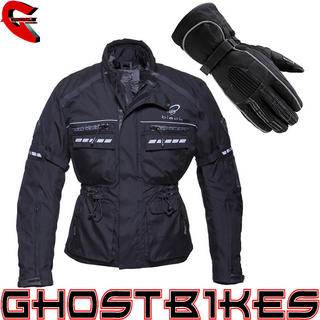 Black Tourmaster Motorcycle Jacket Black (Free Gloves)