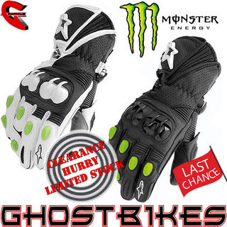 View Item Alpinestars GP-M Monster Energy Motorcycle Gloves
