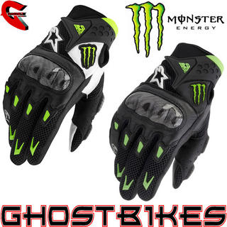View Item Alpinestars M10 Air Carbon Monster Energy Gloves