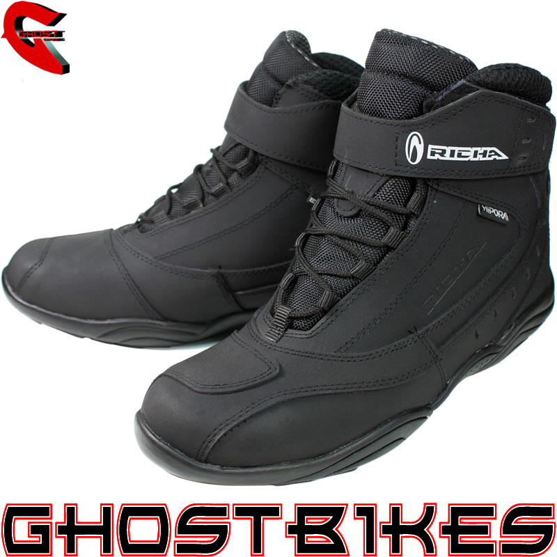 RICHA SLICK HIPORA WATERPROOF MOTORBIKE MOTORCYCLE SHORT ANKLE BOOTS GHOSTBIKES Enlarged Preview