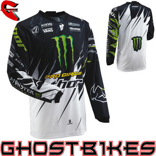 View Item Thor Phase S13 Pro Circuit Monster Energy Motocross Jersey