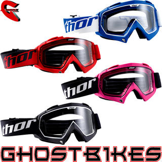 View Item Thor Enemy Solid Youth Motocross Goggles