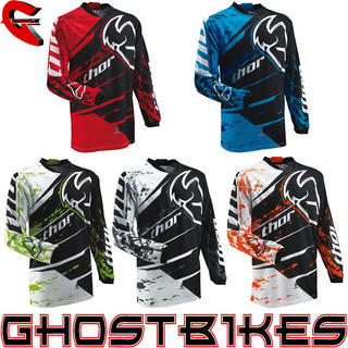 View Item Thor Phase S13 Youth Splatter Motocross Jersey