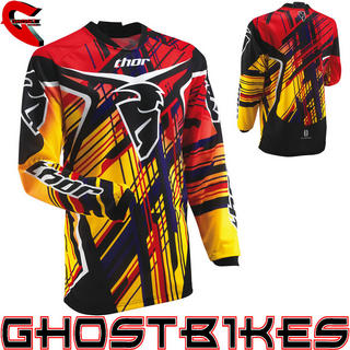 View Item Thor Phase S13 Youth Stix Motocross Jersey