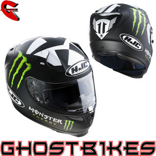 View Item HJC R-PHA 10 2012 Ben Spies Monster Energy 2 Motorcycle Helmet
