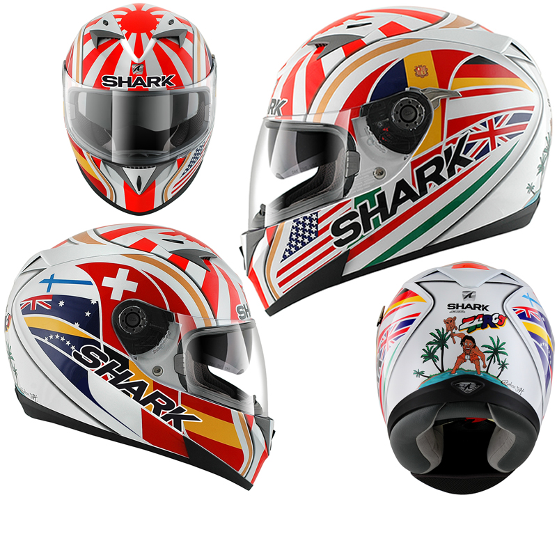 shark s700 s johann zarco replica full face moto casque moto ebay. Black Bedroom Furniture Sets. Home Design Ideas