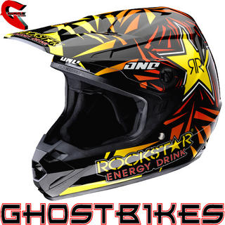 View Item One Industries Atom Rockstar Energy Motocross Helmet