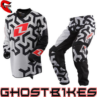 View Item One Industries 2013 Youth Carbon Labyrinth Black-White Motocross Kit
