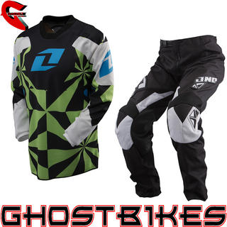 View Item One Industries 2013 Youth Carbon Hypno Green Motocross Kit