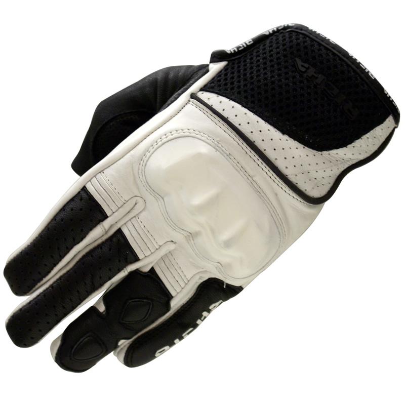 gant moto richa jaw cuir ete noir blanc protection articulation sport ebay. Black Bedroom Furniture Sets. Home Design Ideas