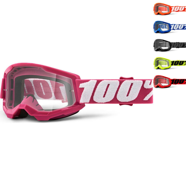 100% Strata 2 Clear Youth Motocross Goggles