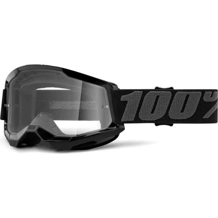 100% Strata 2 Clear Motocross Goggles