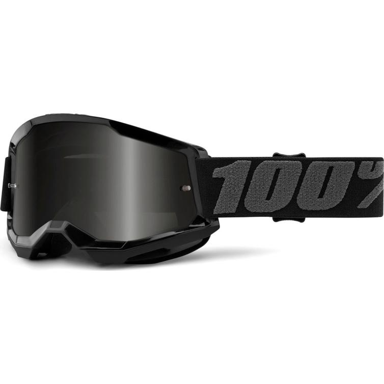 100% Strata 2 Sand Dark Smoke Motocross Goggles