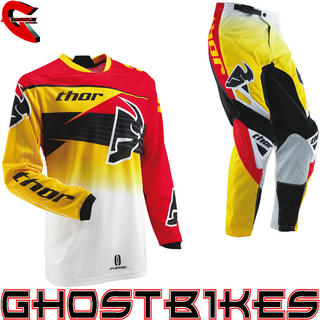 View Item Thor Phase S13 Streak Yellow Motocross Kit