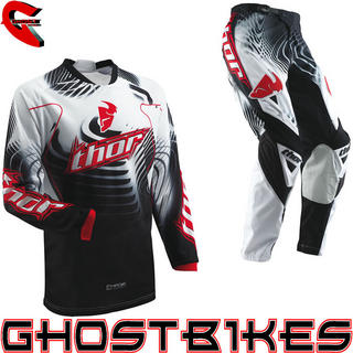 View Item Thor Phase S13 Vented Warp Black-Red Motocross Kit