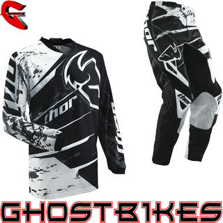 View Item Thor Phase S13 Youth Splatter Black Motocross Kit