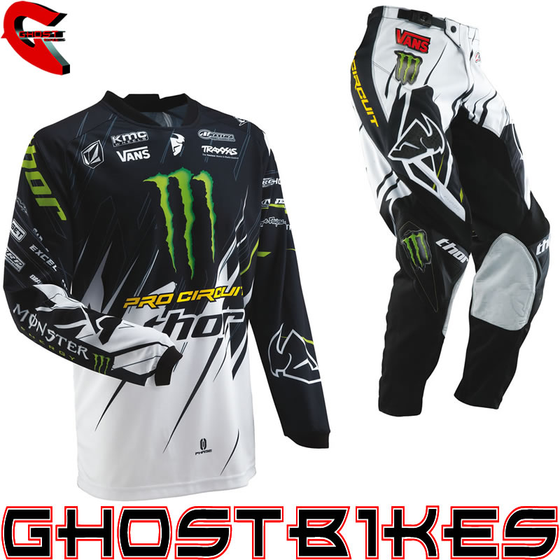6b98514d7 Details about THOR 2013 PHASE S13 YOUTH PRO CIRCUIT MONSTER ENERGY MOTOCROSS  JERSEY PANTS KIT