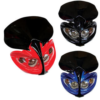 View Item Bike It Demon Universal Motorcycle Headlight