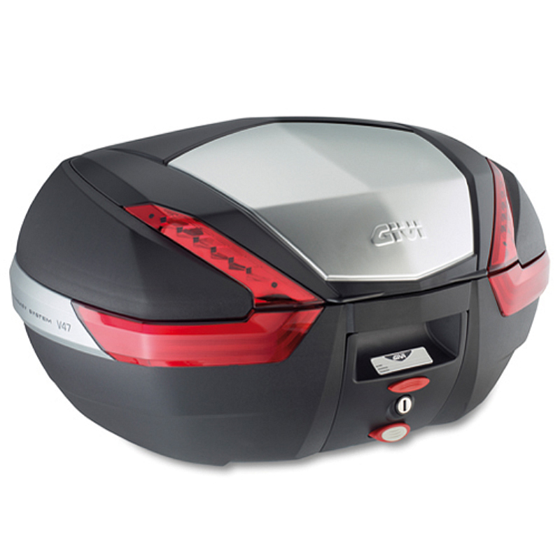 givi v47 monokey hard motorbike motorcycle top box tail case 47l v47n ghostbikes ebay. Black Bedroom Furniture Sets. Home Design Ideas