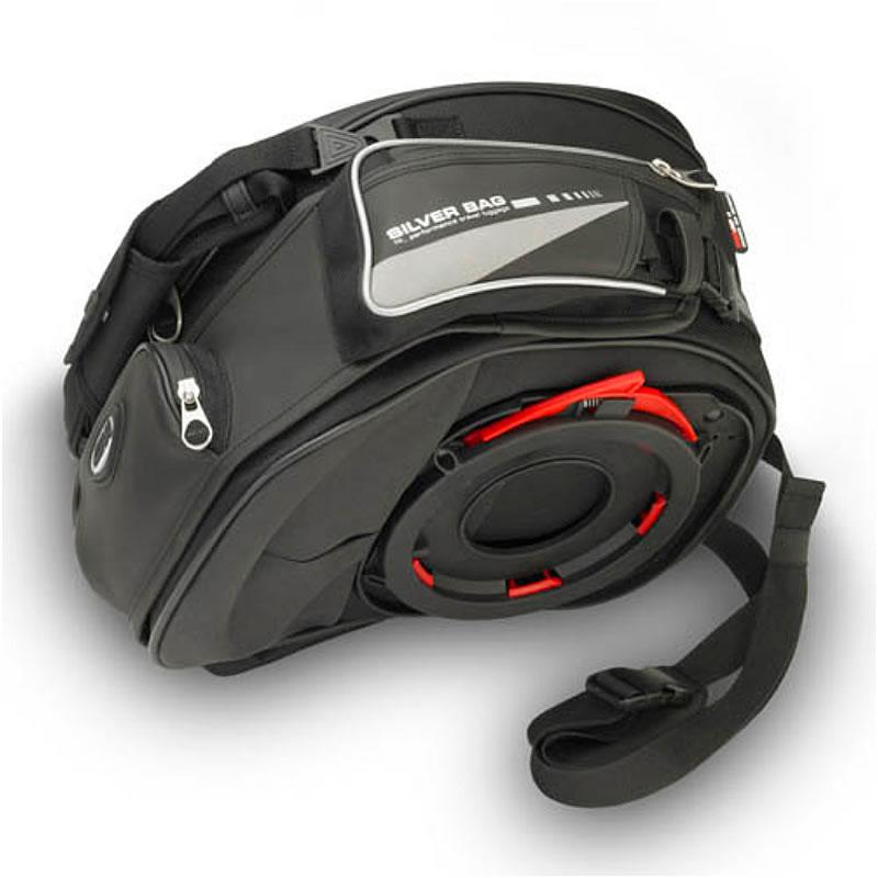 givi t491 silver range tanklock motorcycle motorbike 17l tank bag
