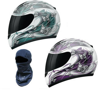 View Item MT Thunder Butterfly Motorcycle Helmet (Free Balaclava)