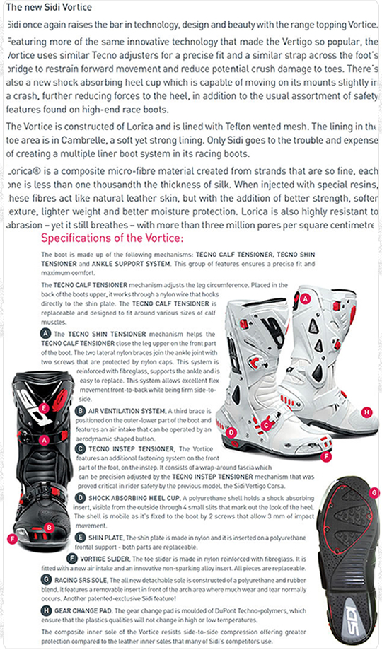 New: 50th Anniversary Sidi Vortice Vernice | Visordown