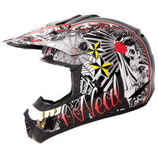 View Item Oneal 3 Series Kids El Loco Motocross Helmet