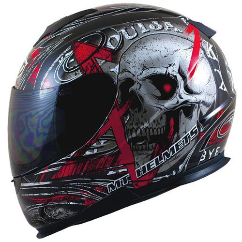 MT THUNDER LIGHTNING SKULL MOTORCYCLE MOTORBIKE FULL FACE ...
