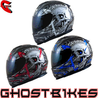 View Item MT Thunder Lightning Skull Motorcycle Helmet