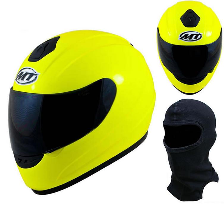 MT Thunder Hi-Viz Motorcycle Helmet (Free Balaclava)