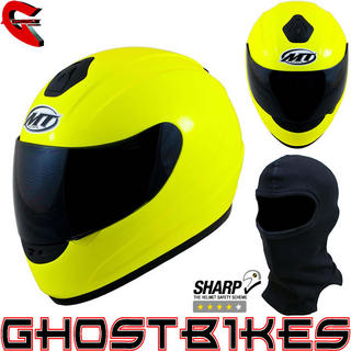 View Item MT Thunder Hi-Viz Motorcycle Helmet (Free Balaclava)
