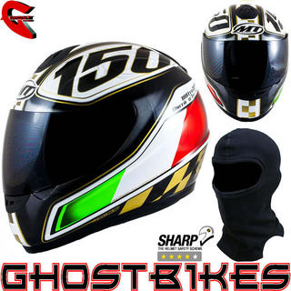 View Item MT Thunder Italian Motorcycle Helmet Black (Free Balaclava)