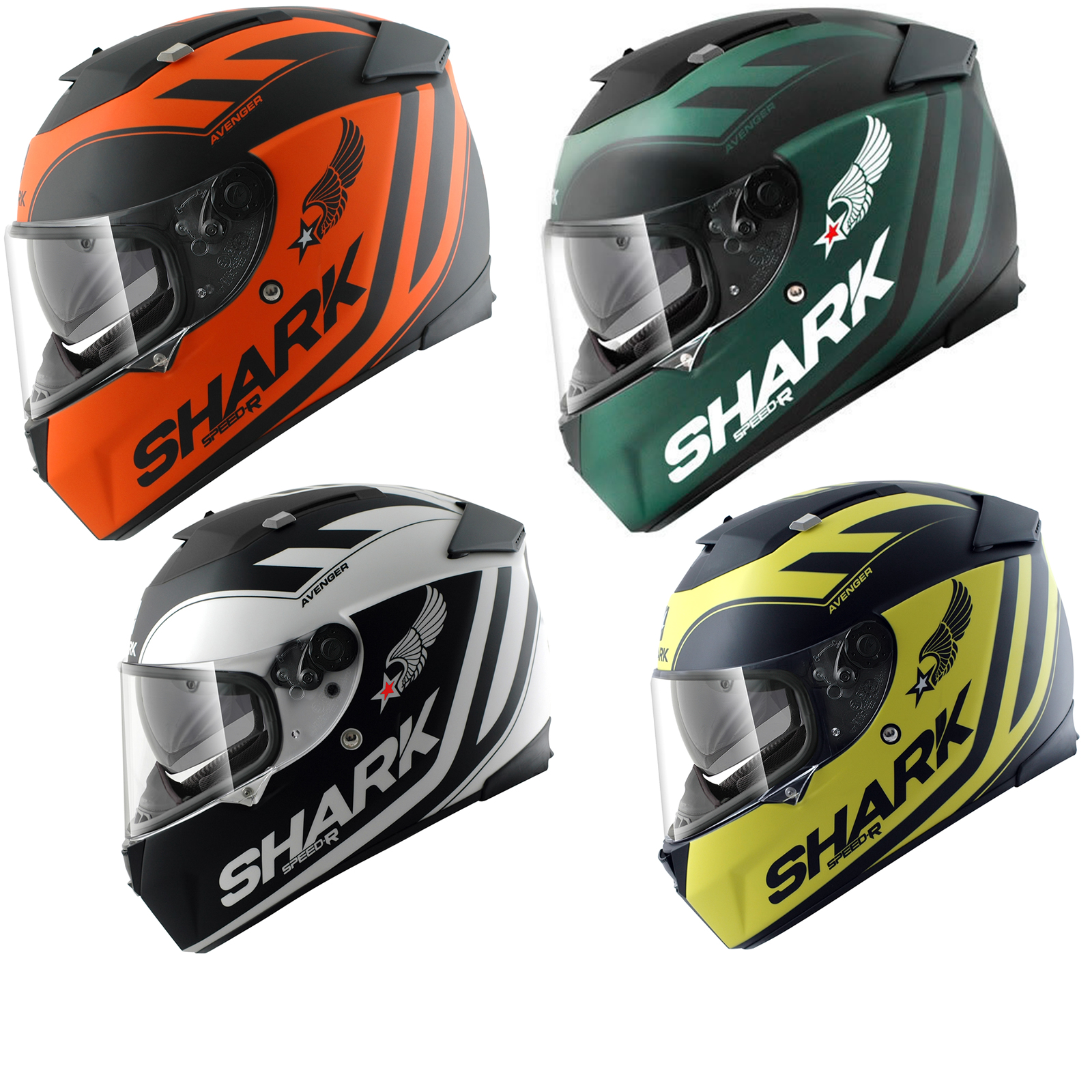 shark speed r avenger motorcycle helmet speed r helmets. Black Bedroom Furniture Sets. Home Design Ideas