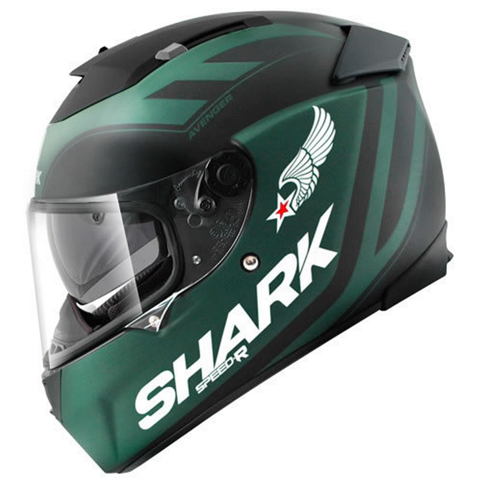 Shark speed r avenger matt casque moto scooter sport - Casque moto course ...