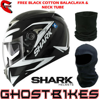 View Item Shark S900-C Creed Mat Motorcycle Helmet + FREE Balaclava + Neck Tube