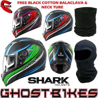 View Item Shark S900-C Fujing Motorcycle Helmet + FREE Balaclava + Neck Tube