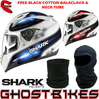 View Item Shark S900-C Darkin Motorcycle Helmet + FREE Balaclava + Neck Tube