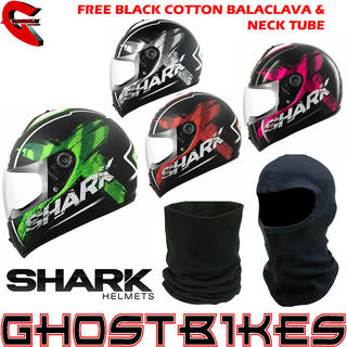 View Item Shark S600 Exit Mat Motorcycle Helmet + FREE Balaclava + Neck Tube