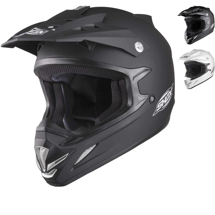 Shox MX-1 Solid Motocross Helmet