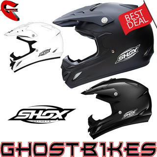 View Item Shox MX-1 Solid Motocross Helmet