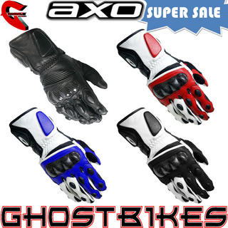 View Item Axo KR8 Leather Motorcycle Gloves