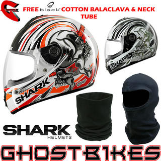 View Item Shark S600 Chuka Chuka Motorcycle Helmet + FREE Balaclava + Neck Tube