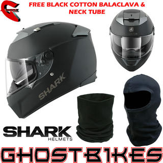 View Item Shark Speed-R Dual Motorcycle Helmet - FREE Balaclava + Neck Tube